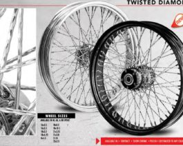 Twisted Diamond Styled Traditional Spoke Wheels